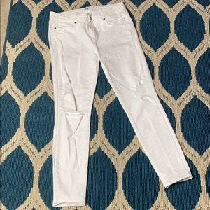 White Distressed Paige Jeans